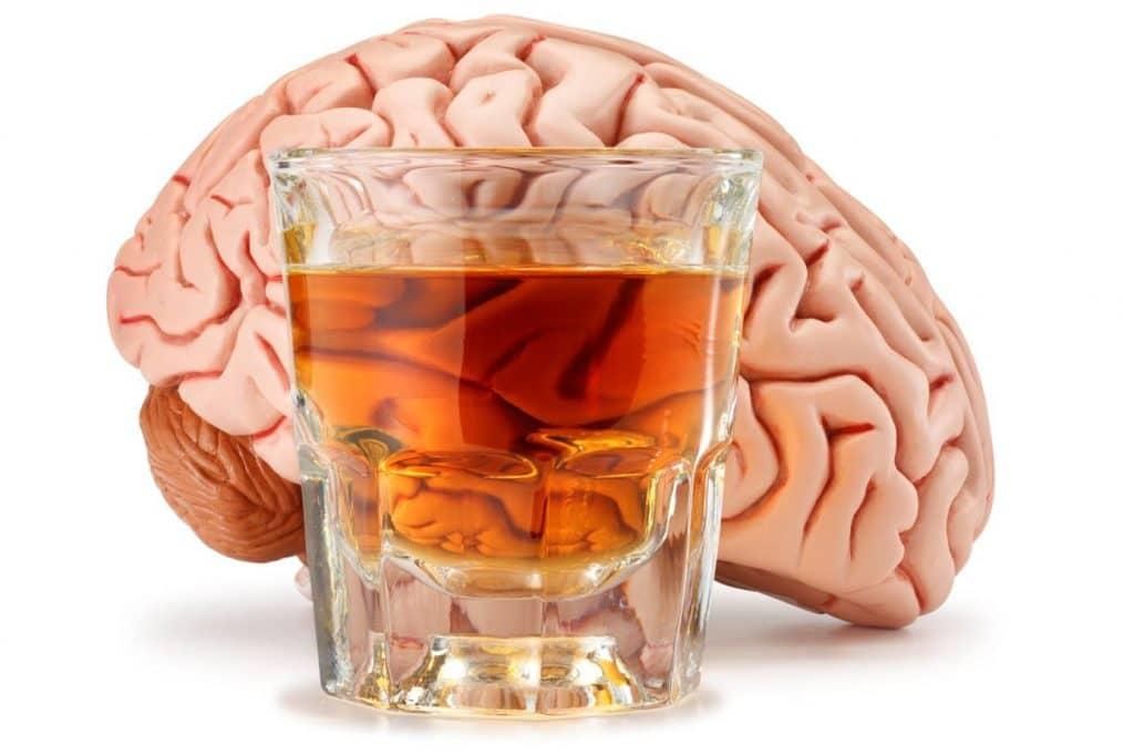 cerebro afectado por el alcohol