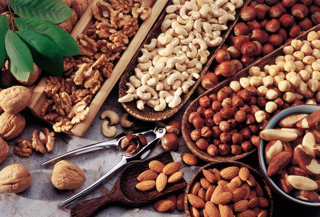 frutos secos para obtener la vitamina B1